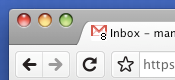 GMail favicon unread mail