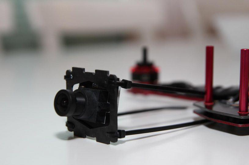 Préparation de la caméra avec un angle positif